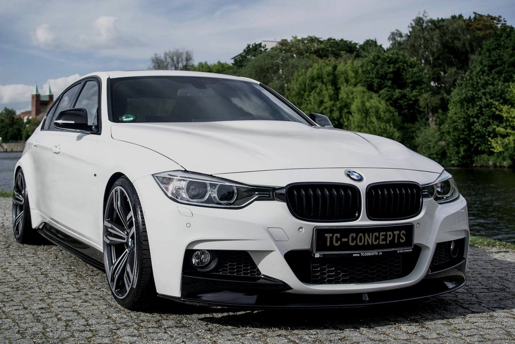 bmw 3 series with the tc-concept wide body kit looks like an m3
