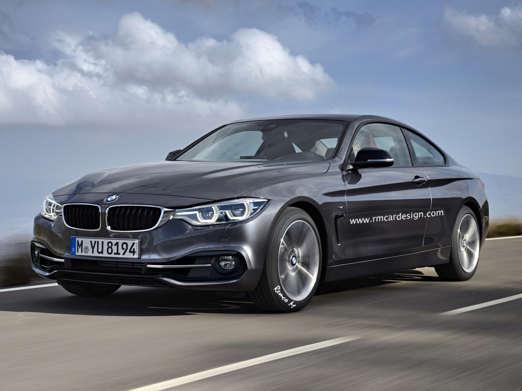 bmw 4 series coupe facelift rendered looks like the real. Black Bedroom Furniture Sets. Home Design Ideas