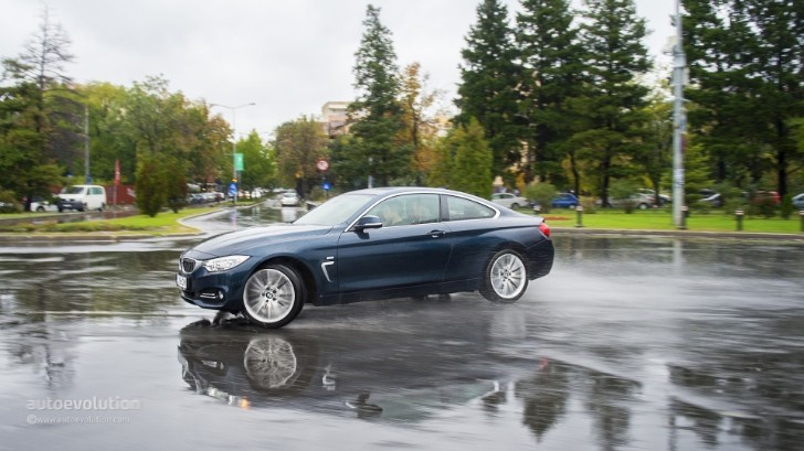 BMW 4 Series Drifting in the Rain