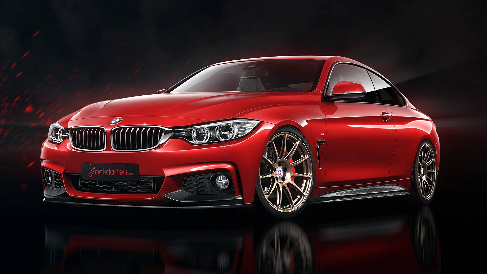 bmw 4 series m sport gets virtual tuning autoevolution. Black Bedroom Furniture Sets. Home Design Ideas