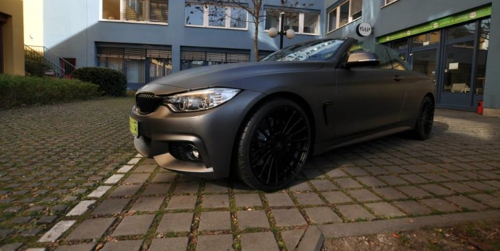 Bmw 435i Convertible Gets Centurion Grey Matte Wrap