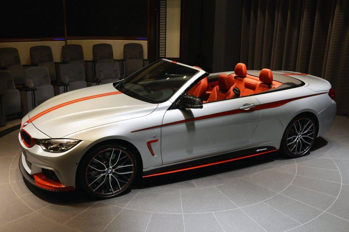 Bmw 435i Convertible Gets Orange M Performance Kit Akrapovic Pipes