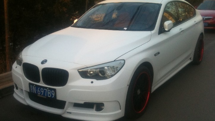 BMW 5 Series GT in Matte White Makes an Apperance in China