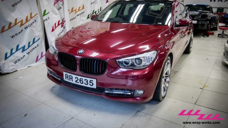 BMW 535 Gran Turismo Gets Metallic Red Wrap by Wrap Workz [Video] [Photo Gallery]