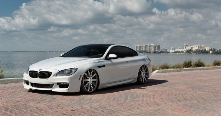 BMW 6 Series on Vossen CV4 Wheels Is almost a Low-Rider [Video]