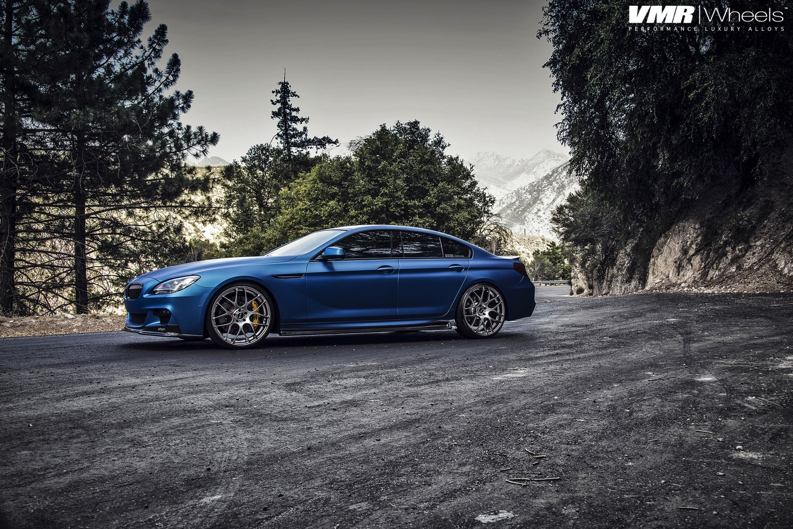 Bmw 640i Gran Coupe Gets Matte Blue Wrap At Eas