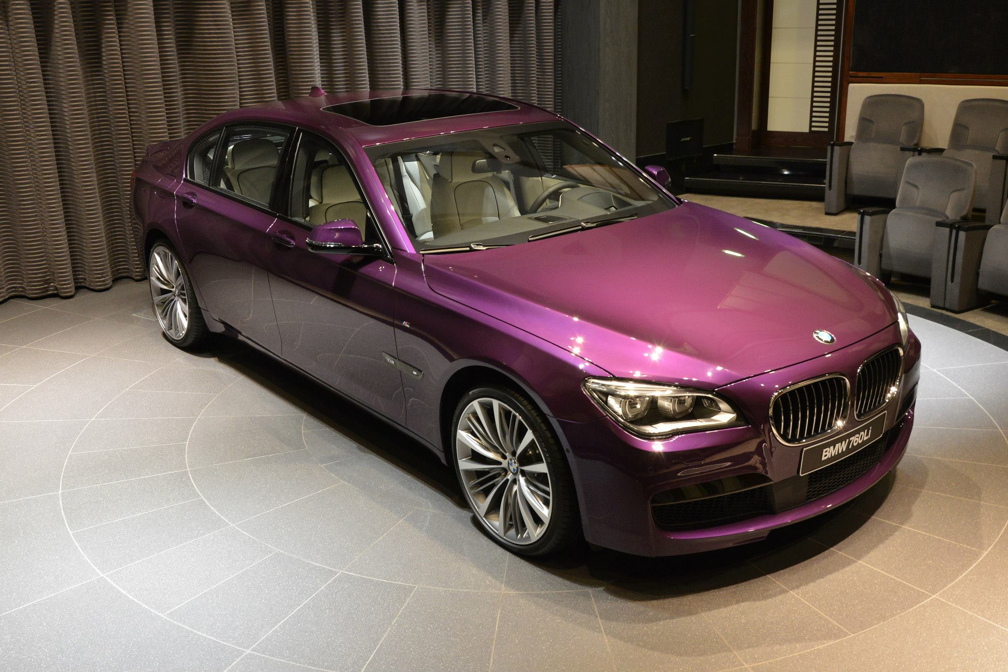 BMW Li Wearing Purple And A V Costs An Arm And A Leg - 760 bmw