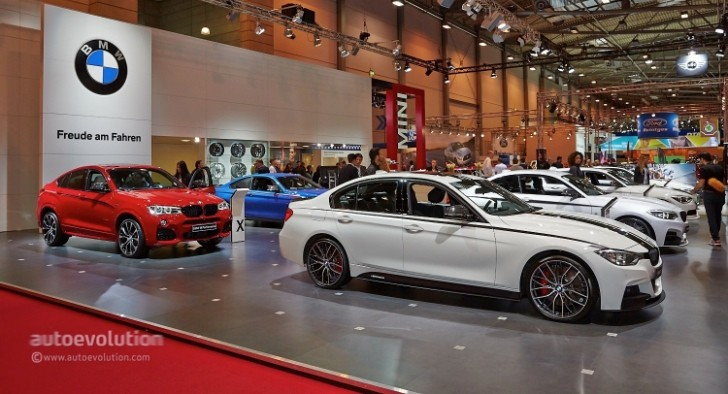 bmw brings new m performance parts to essen for m4 and x4 models live photos autoevolution. Black Bedroom Furniture Sets. Home Design Ideas