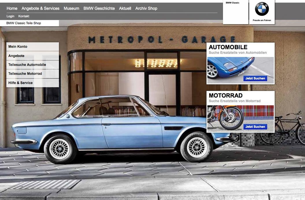 bmw classic online parts shop launched autoevolution. Black Bedroom Furniture Sets. Home Design Ideas