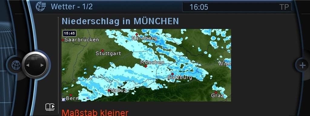 BMW Drivers Can Now Use the Precipitation Radar - autoevolution