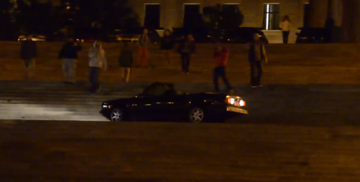 BMW E30 3 Series Convertible Goes Down the Rocky Steps [Video]