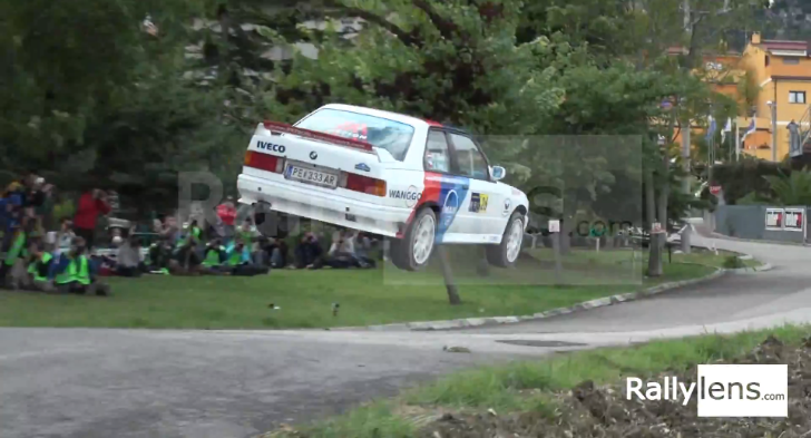 BMW E30 M3 Crashes into a Fence During Rally [Video]