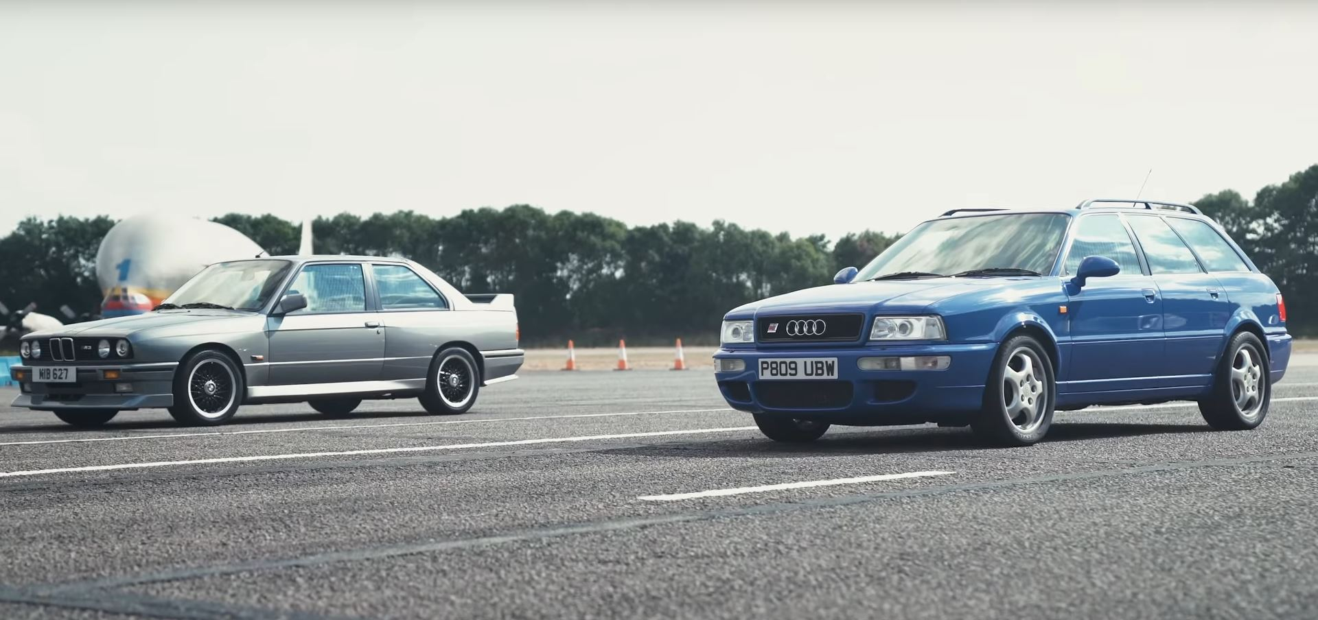 Bmw E30 M3 Vs Audi Rs2 Drag Race Is A Very Retro Drag Race