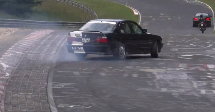 BMW E34 M5 Teaches the 'Drive It Like You Stole It' Technique on the Ring [Video]