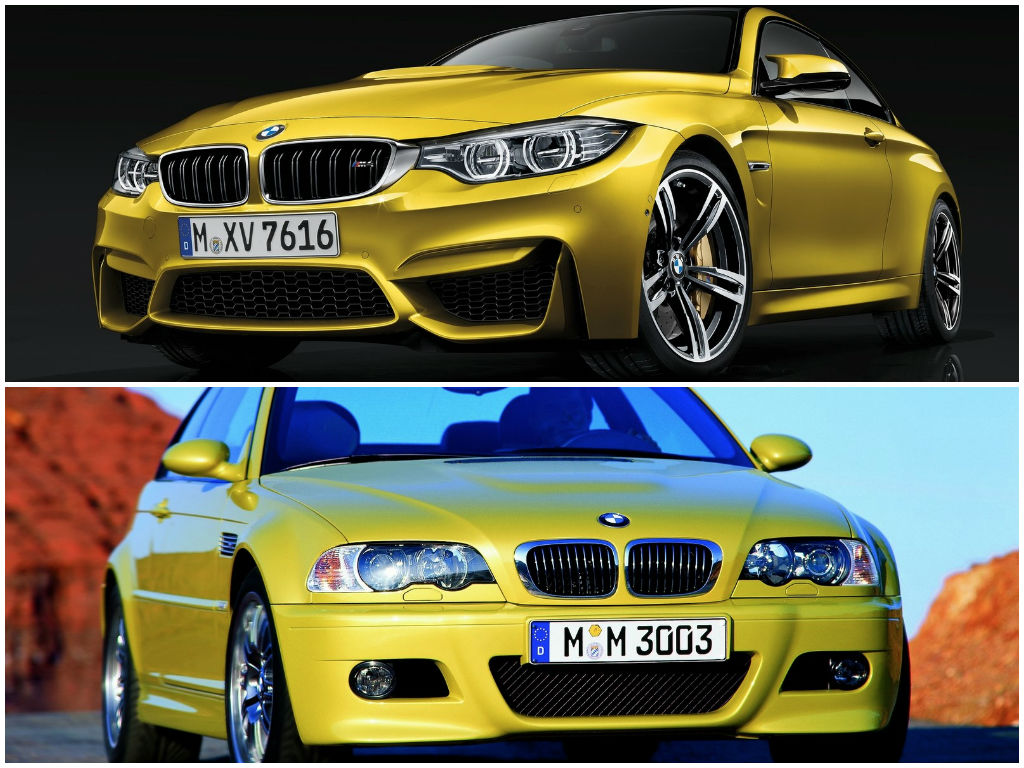 bmw e46 m3 coupe vs bmw f82 m4 comparison autoevolution. Black Bedroom Furniture Sets. Home Design Ideas