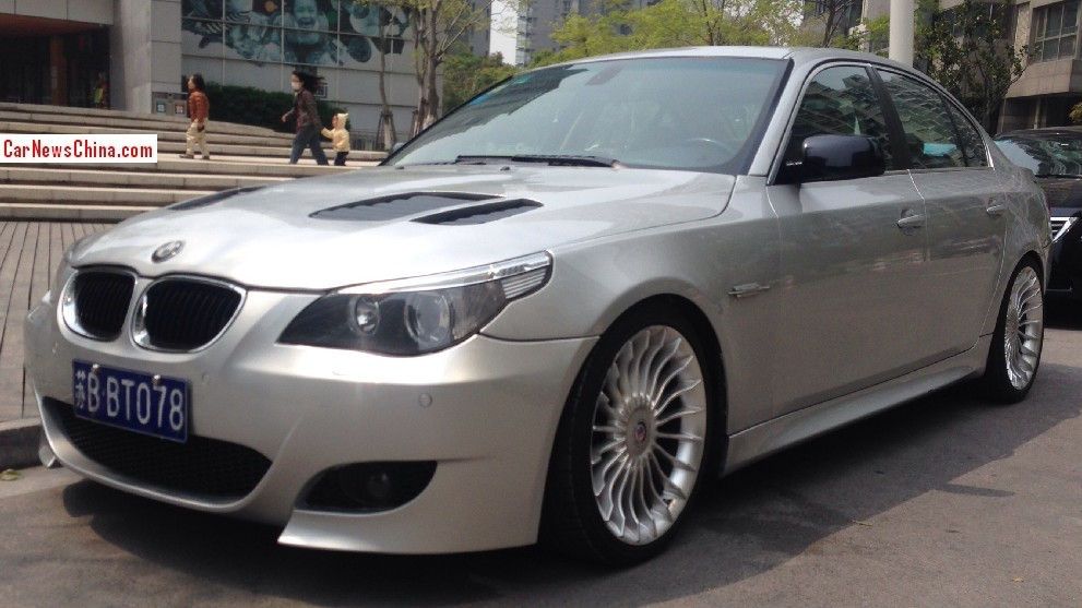 bmw e60 5 series spotted wearing alpina wheels in china autoevolution. Black Bedroom Furniture Sets. Home Design Ideas