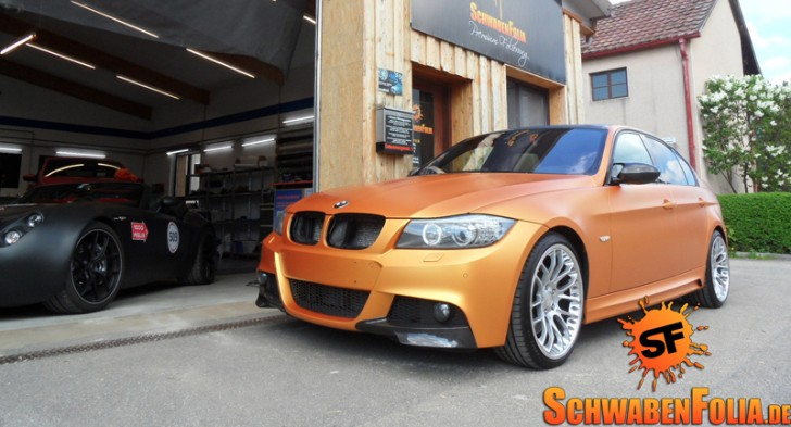 BMW E90 3 Series in Matte Metallic Orange [Photo Gallery]