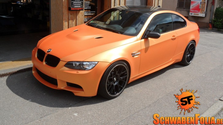 BMW E92 M3 Goes from Metallic Grey to Sunrise Matte Orange [Photo Gallery]