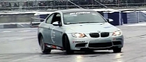BMW E92 M3 on Skinny Tires Slides Around in the Wet [Video]