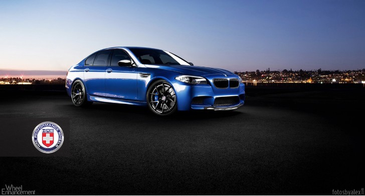 BMW F10 M5 Has Black Wheels and Blue Calipers [Photo Gallery]