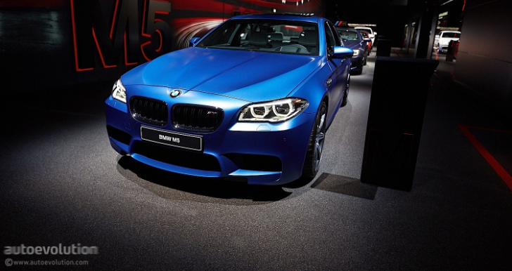 BMW F10 M5 LCI Is Frozen Blue at the 2013 Frankfurt Motor Show