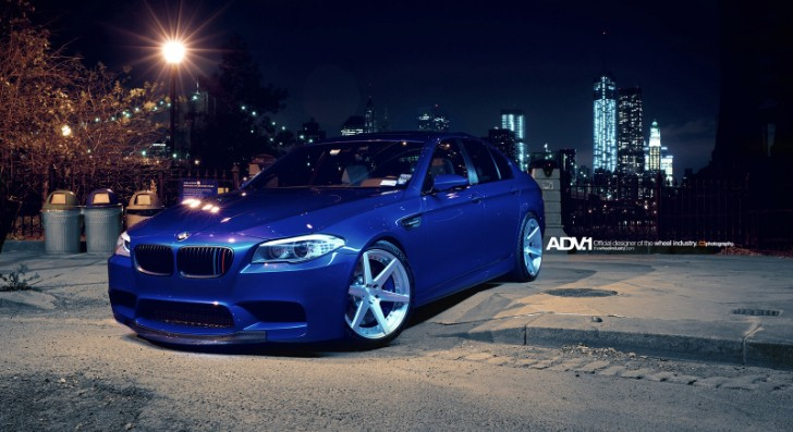 BMW F10 M5 on ADV.1 Wheels Makes NY Shine [Photo Gallery]