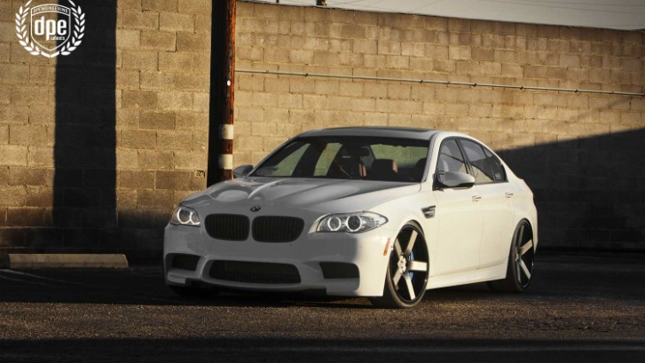 BMW F10 M5 on DPE CSR 05s in Matte Black