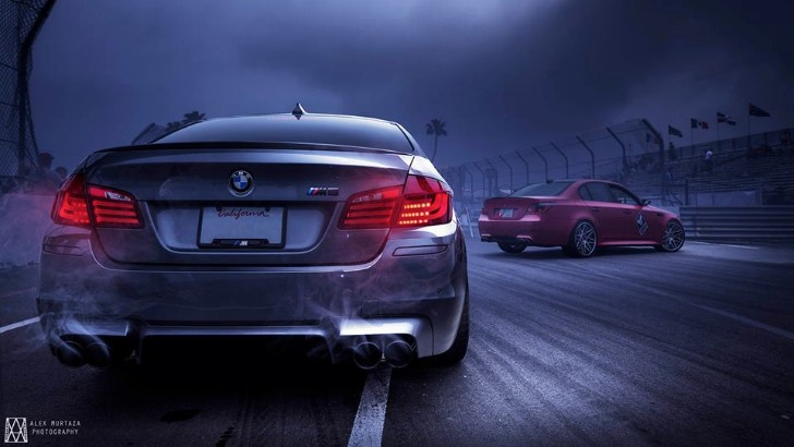 BMW F10 M5 vs BMW E60 M5 at Targa Formula D