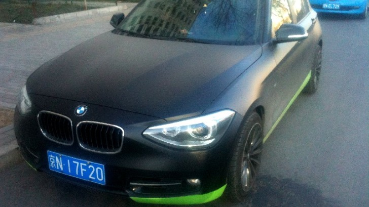 BMW F20 1 Series Comes in Matte Black in China
