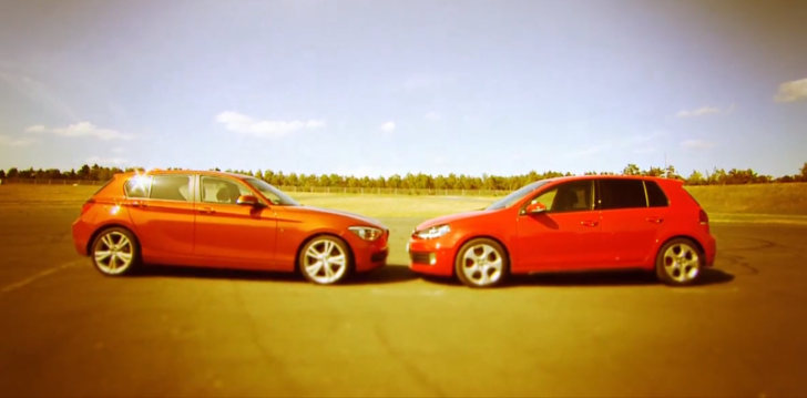 BMW F20 125i vs Volkswagen Golf GTI Comparison Test [Video]