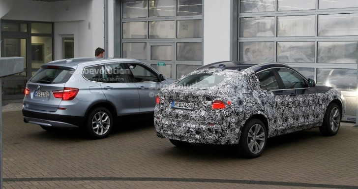 BMW F26 X4 vs F25 X3: Spy Photo Comparison