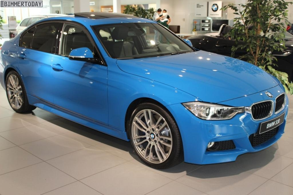 BMW F Series In Individual Pure Blue Is Pure Madness - Bmw 3 series colors