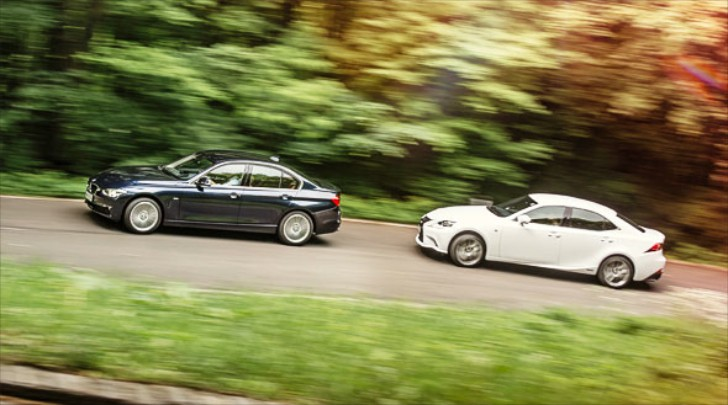 BMW F30 320d vs Lexus IS300h Comparative Test