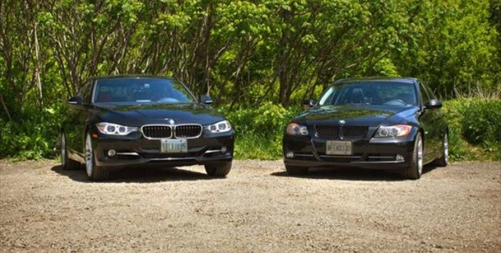 BMW F30 335i vs E90 335i Comparison Test by Autos.ca