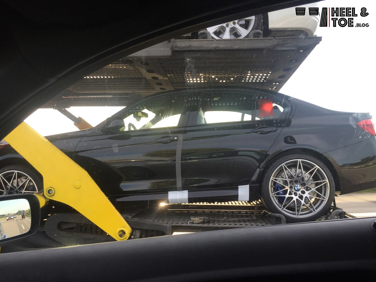 Bmw F80 M3 Competition Package Spotted By Accident On A Trailer Autoevolution
