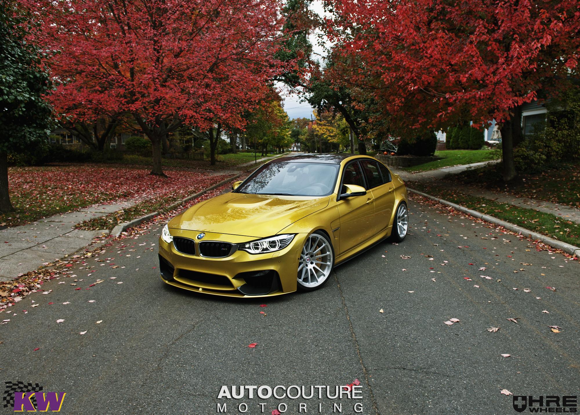Bmw F80 M3 Shows Its Autumn Colors On Hre Classic Wheels Autoevolution
