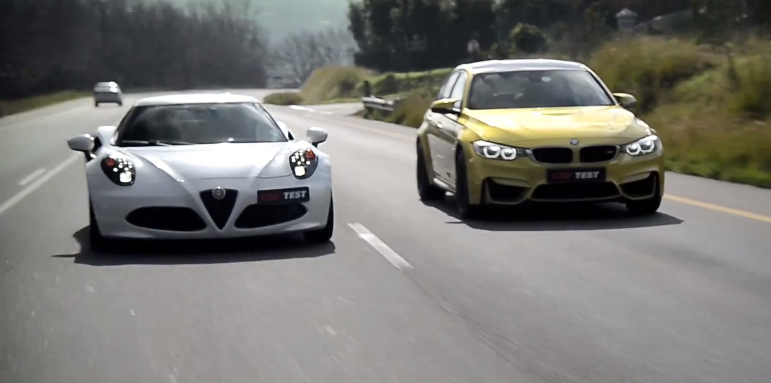 bmw f80 m3 takes on alfa romeo 4c in comparison test. Black Bedroom Furniture Sets. Home Design Ideas