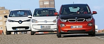 BMW i3 vs Renault Zoe vs VW E-Up Comparison Test [Photo Gallery]