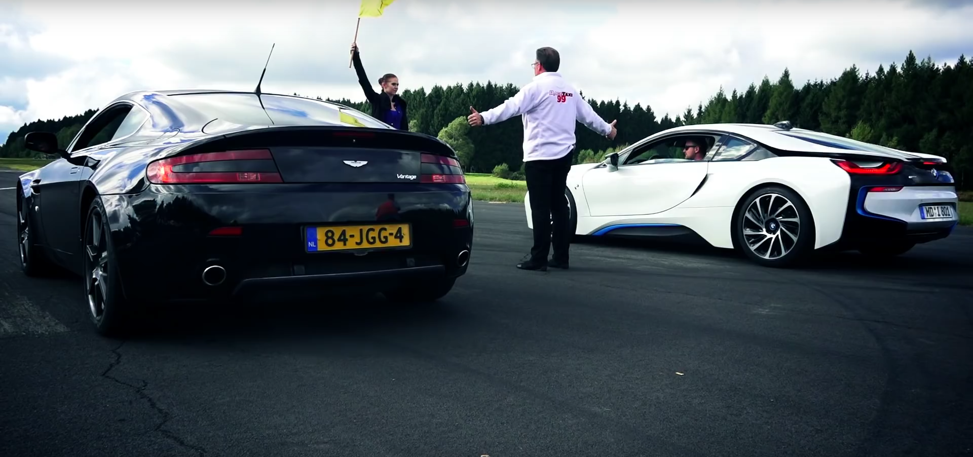 Bmw I8 Drag Races Aston Martin V8 Vantage And Claims Another Trophy