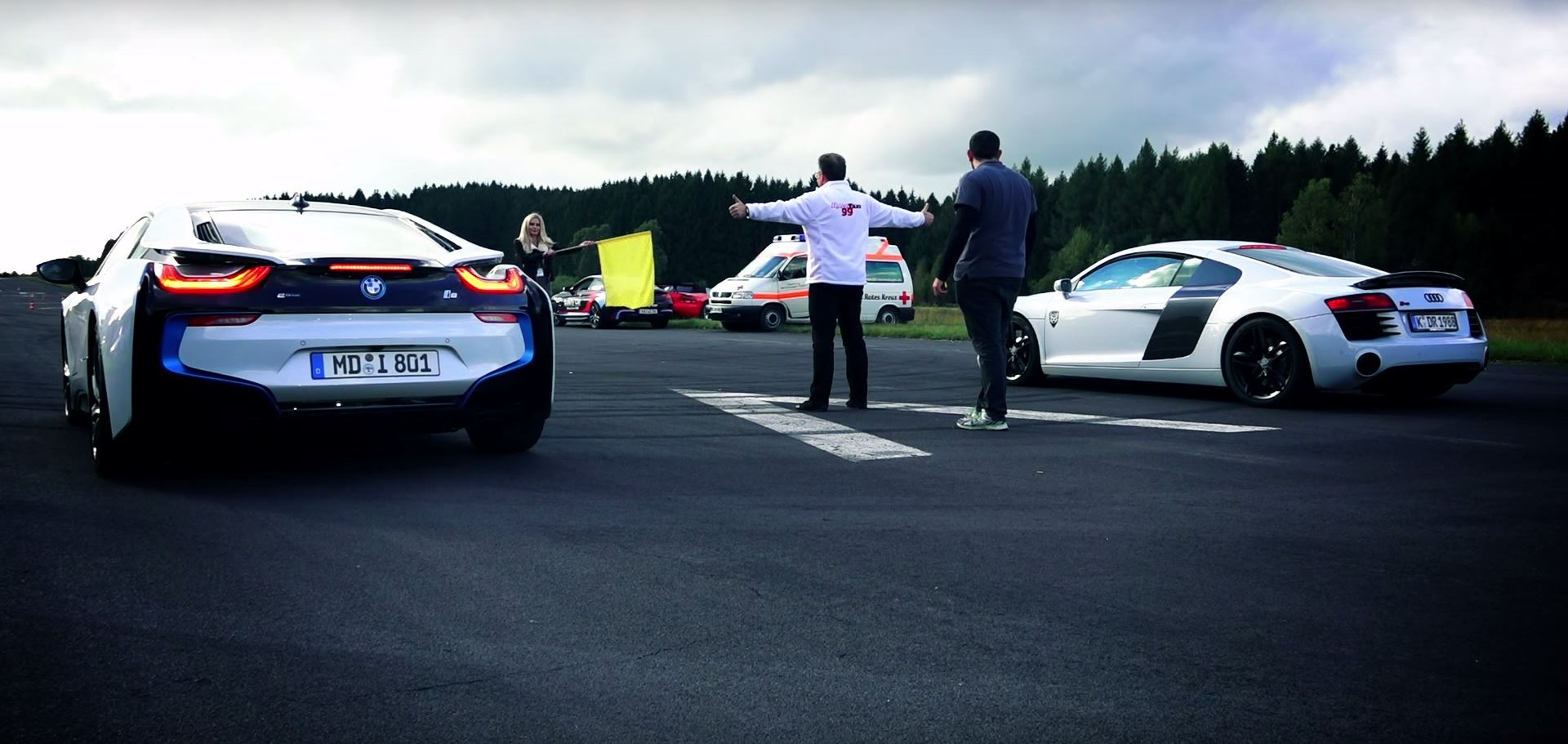 Bmw I8 Drag Races Audi R8 And It Does Not End Well For The Supercar
