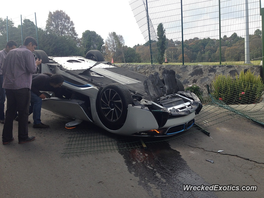 Bmw I8 Flips During Test Drive Crash In Mexico Doors Open Tightly