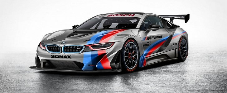 Bmw I8 Gt3 Rendered Looks Absolutely Vicious Autoevolution