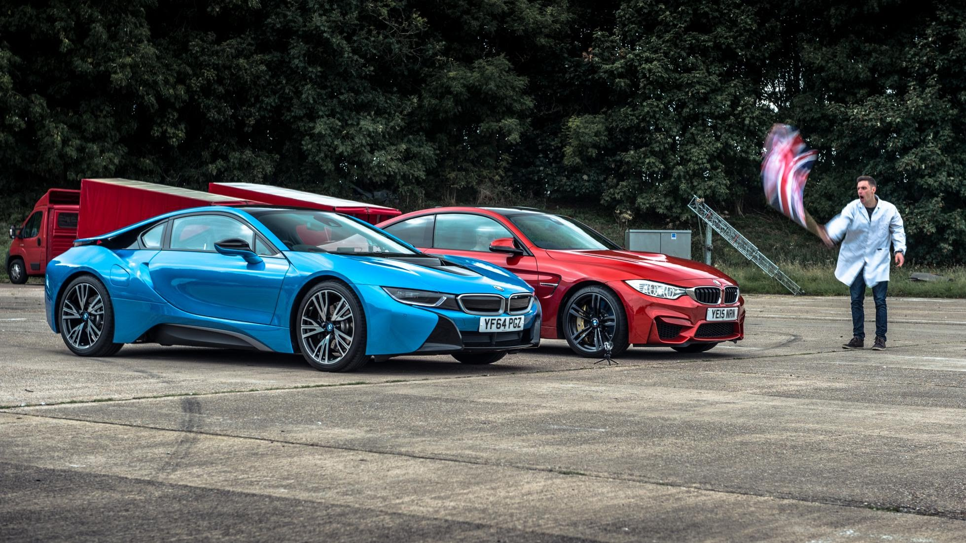 Bmw I8 Vs M4 Drag Race By Top Gear Is A Photo Finish Autoevolution