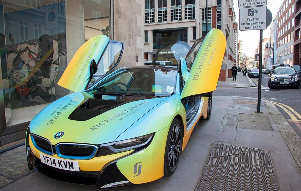 Bmw I8 Wrapped In Custom Livery Designed By Richard James