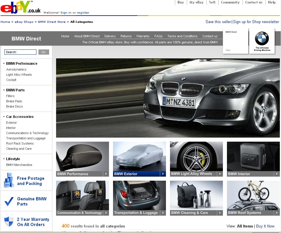 BMW Makes Buying Easier With New EBay Store