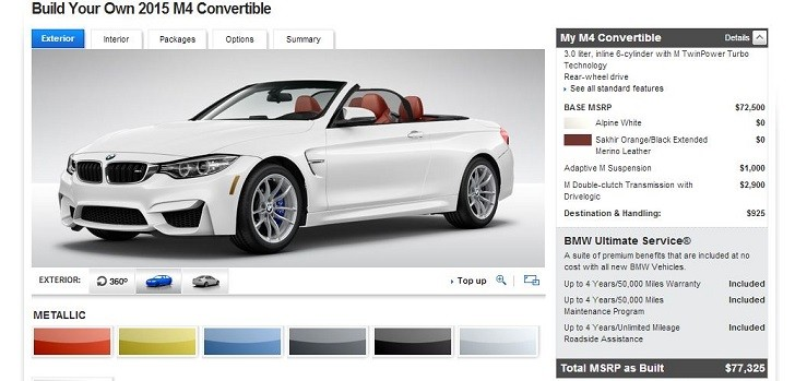 Bmw Launches Two New Configurators On Us Website Autoevolution