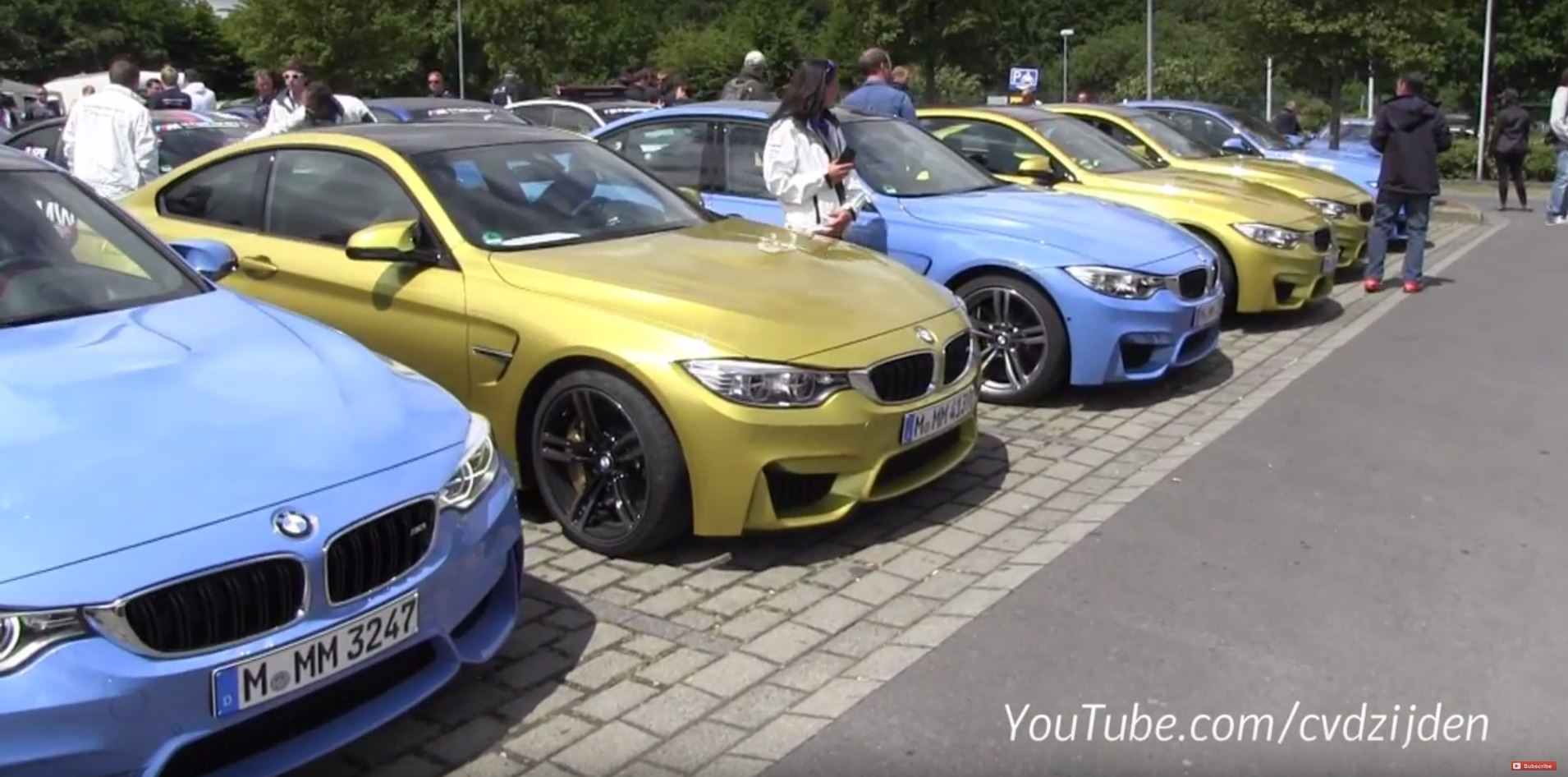 BMW M Parking Lot Heaven Has the M1 M3 M4 M5 Touring and Much