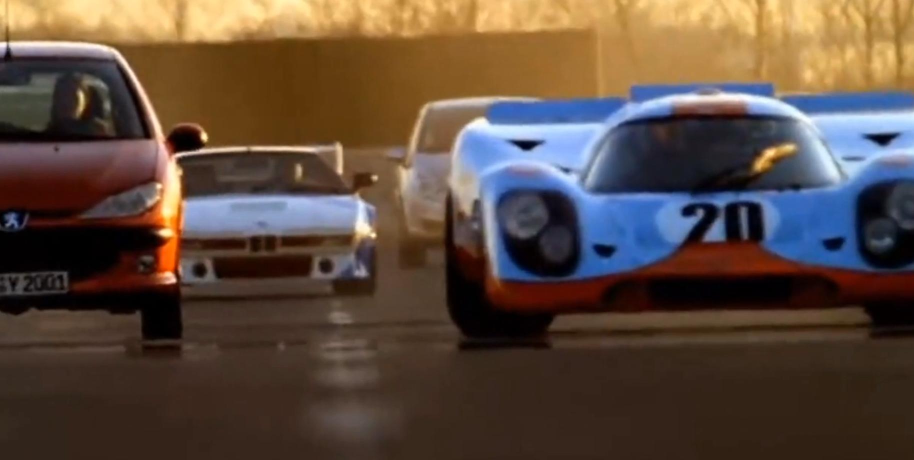 Bmw M1 Procar Chases Porsche 917k On A German Autobahn