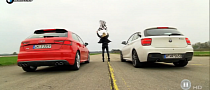 BMW M135i and Audi S3 Compete to Win a Playmate's Heart [Video]