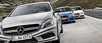 BMW M135i vs Mercedes-Benz A45 AMG vs Audi S3 Comparative Test